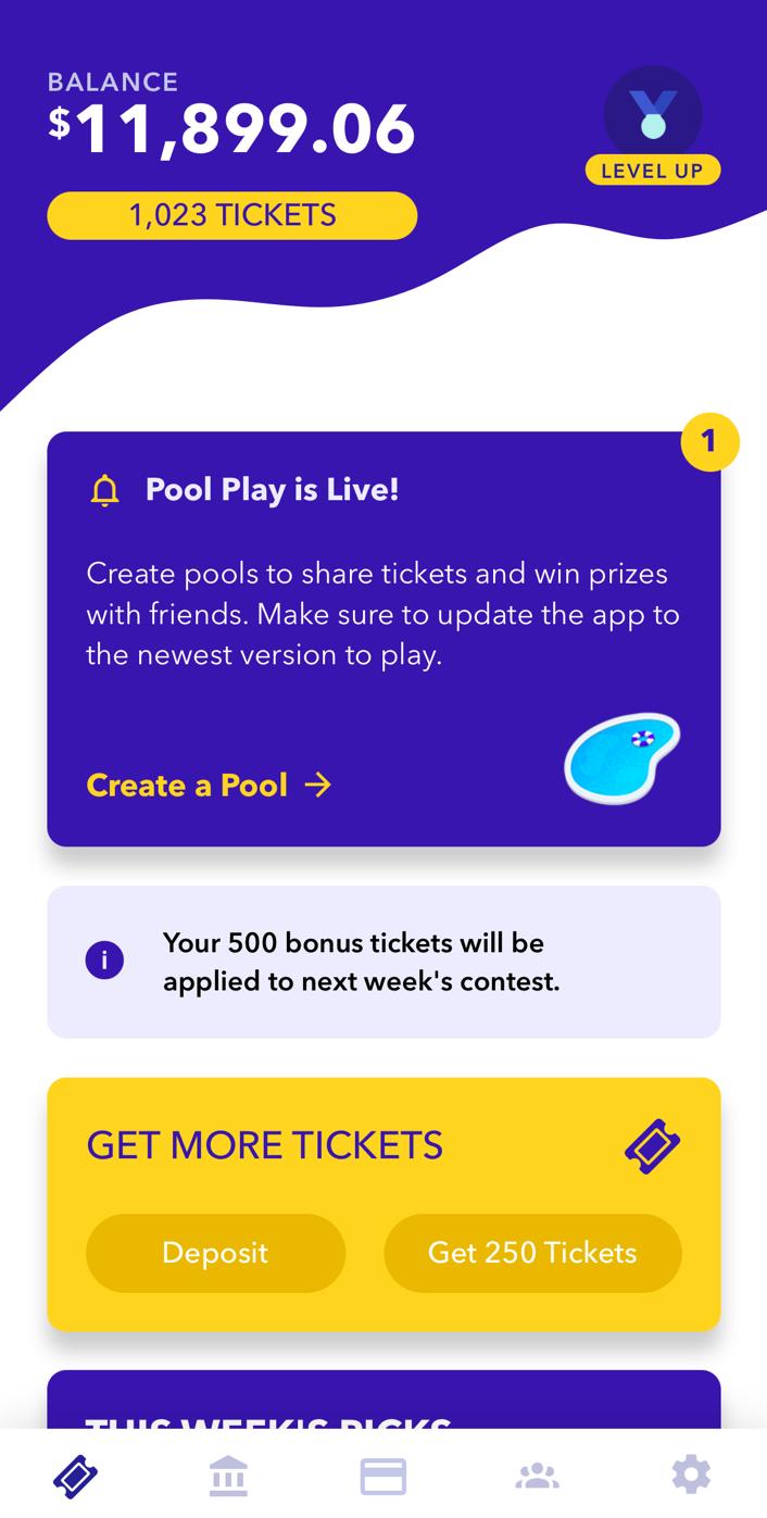 Yotta app homepage showing balance