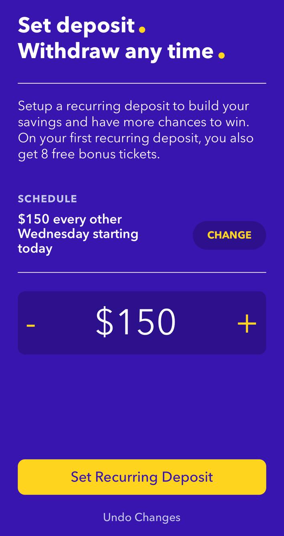 Setting up a recurring deposit on Yotta app