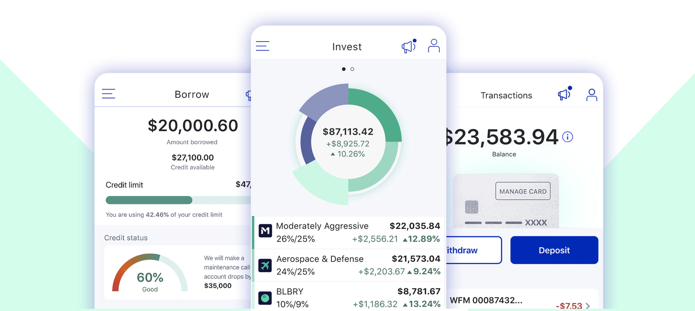 The pie system on M1 Finance is easy to use and intuitive. Image from M1finance.com