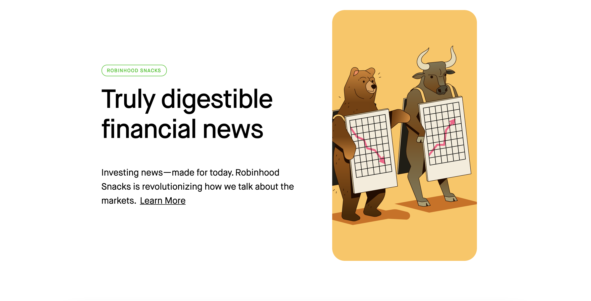 Robinhood has educational tools for investors of all skill levels, particularly those just starting out. Image from robinhood.com