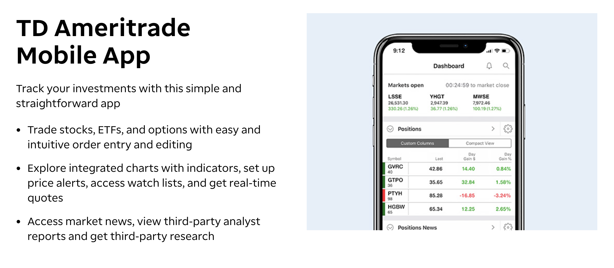 TD Ameritrade is our best overall day trading app. Image from tdameritrade.com
