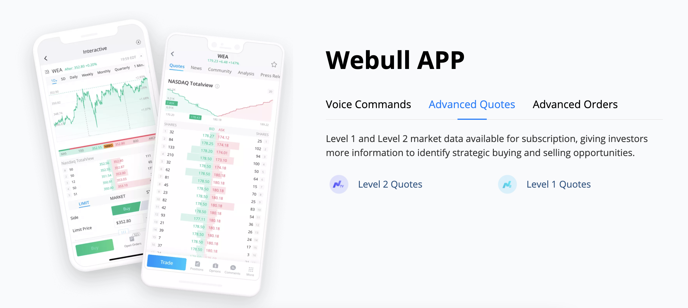 The Webull trading platform is sleek and intuitive. Image from webullapp.com